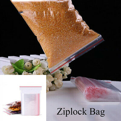Self Adhesive PE Pouch Plastic Poly Clear Jewelry Zip Bags Ziplock Bag