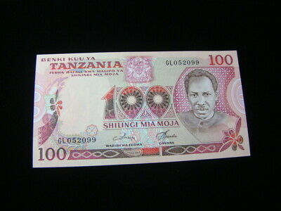 Tanzania 1977 100 Shillings Banknote Gem Unc. Pick #8d Very Nice!!