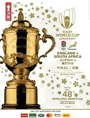 Rugby World Cup Final 2019 PROGRAMME (Perfect Condition) England South Africa