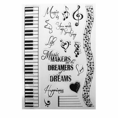 Music Dreams DIY Silicone Clear Stamp Cling Seal Scrapbook Embossing Album Decor