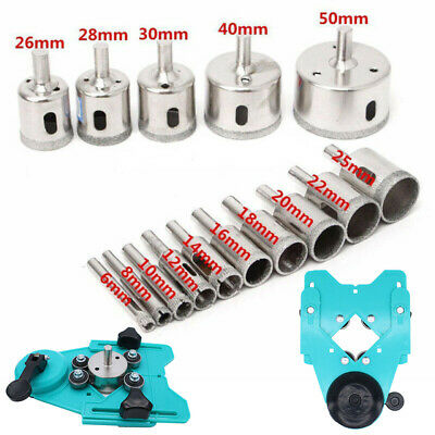 16× Drill Guide Glass Vacuum Base Sucker Tile Glass Hole Saw Openings Locator US