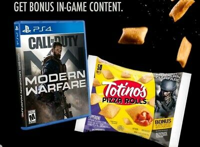 Call of Duty Modern Warfare Totinos DLC Code (One Unlock) Sent quickly!