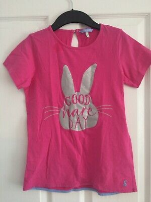 Joules At Next Good Hare Day Pink Tshirt Age 11-12 146-152cm Peter Rabbit Coll