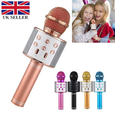 Handheld Wireless Bluetooth Karaoke Microphone USB KTV Player MIC Speaker UK