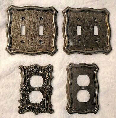 Vintage Double Light Switch Cover Plates + Wall Plates AMERICAN TACK 1968