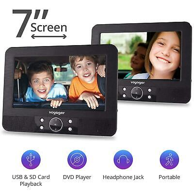 """Voyager In Car DVD Twin Headrest 7"""" Inch Screen Portable Players"""