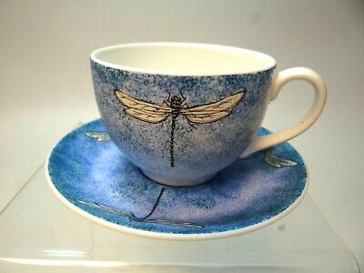 Art Studio Dragonfly China Cup and Saucer