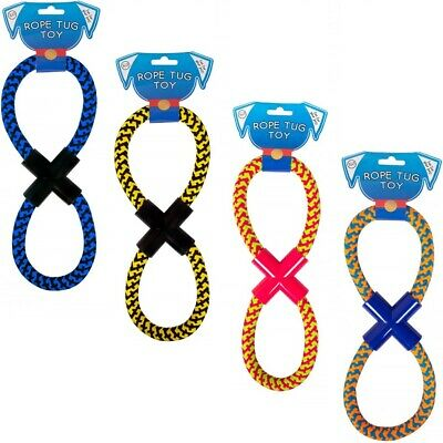Figure 8 Dog Rope Toy Tough Puppy Strong Knotted Tugger Chew Pull Teeth Bone Pet
