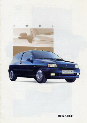 Catalogue brochure prospekt Renault gamme 1991 / 1992 Clio 16 S UK