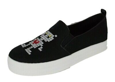 Skechers street womens double up robot love air cooled memory form black 7.5