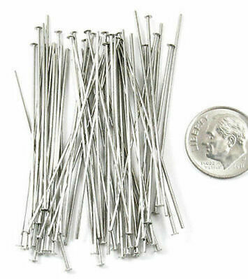 Solid Copper 1 inch 21 Gauge Eyepin Headpin Findings • Q50 • 45120