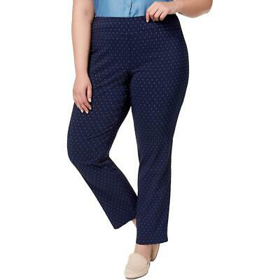 Charter Club Womens Slim Leg Tummy Slimming Mid-Rise Pants Plus BHFO 3623