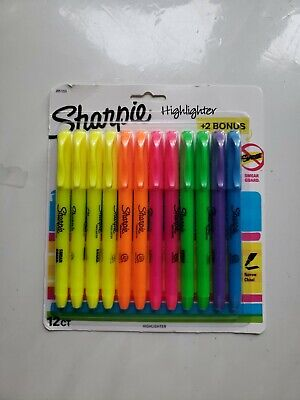 """Pink /""""Sharpie Accent Highlighters 12//Case/"""""""