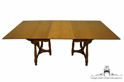 """SPRAGUE & CARLETON Solid Hard Rock Maple Colonial Style 81"""" Dining Table w. B..."""