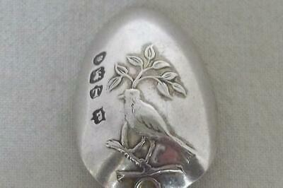 A Superb Antique Solid Sterling Silver Victorian Picture Back Spoon London 1894.