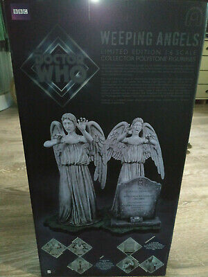 BIG CHIEF DOCTOR WHO WEEPING ANGELS figure 1/6 scale STATUE TWO PACK COLLECTOR