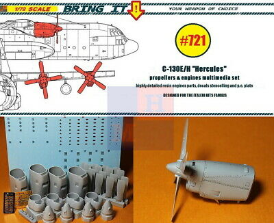 """1//48 by /""""Bring it!/""""///""""MLH/"""" #483 C-130 /""""Hercules/"""" control surfaces universal set"""