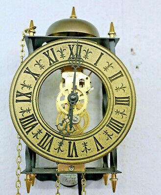Old Wall Clock  particular Skeleton clock Made in Germany*TEMPUS FUGIT