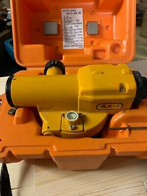 Nikon AX-1 automatic Surveyor Level And Case Good Working Condition