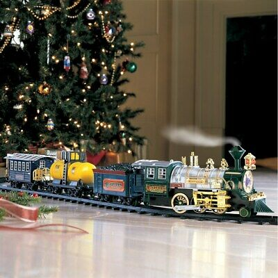 Traditional Around the Christmas Tree Train Set Music Sound & Lights & Smoke