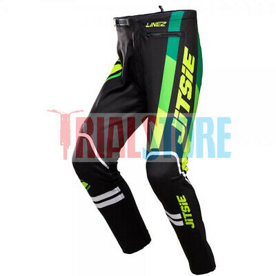 Jitsie LINEZ Trials Riding Pant Green-Trials-Offroad-Adventure FreePP