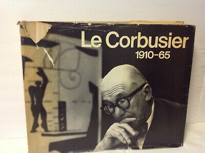 LE CORBUSIER 1910-65 - HARD COVER w/DUST JACKET- 1967-MID CENTURY MODERN-w/EXTRA
