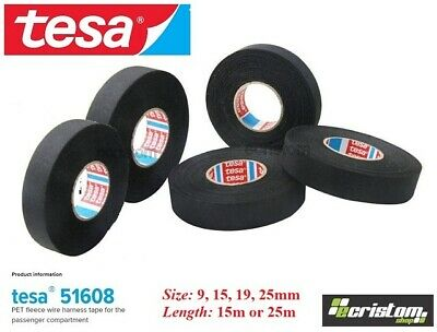 Tesa Tape 51608  Adhesive Cloth Fabric Loom Harness 9mm 15mm 19mm 25mm 15 or 25m