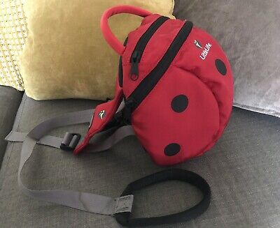 Little Life Littlelife Ladybird Backpack With Reins & Ladybird Hood.