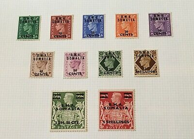 Commonwealth, British Occupation of Italian Colonies BMA Somalia 1948 KGVI
