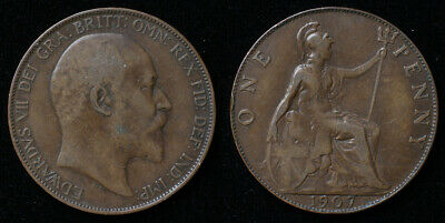 Great Britain (Edward VII) 1907 bronze Penny KM#794.2
