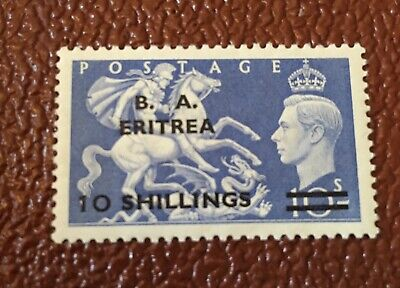 Commonwealth British Occupation Italian Colonies BA Eritrea 10/ blue KGVI MH