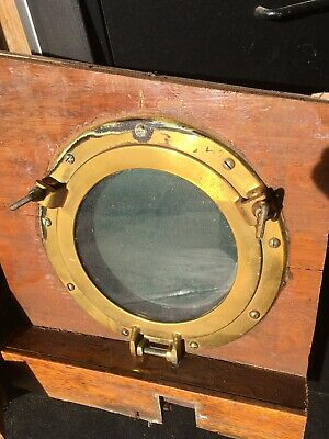 "Solid Brass Portholes Two 6 1/2"" And Four 8"""
