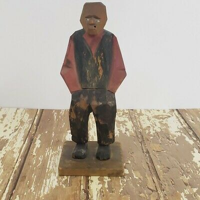Handcarved Folk art, Goteborg Sweden, CARL OLAF TRYGG?, Smoker