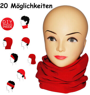"""Multifunctional Scarf - Fleece - """" Strong Red """" - Universal Size - Loop Scarf"""