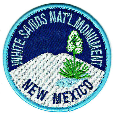 ⫸ P36 White Sands National Monument Embroidered Patch New Mexico NM, New Iron-on