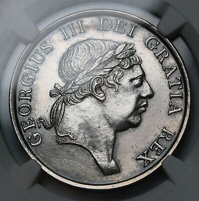 1815 UK Bank of England Silver 3 Shillings NGC AU Details George III Coin Rare