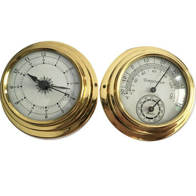 Thermometer Hygrometer Barometer Watches Clock 2 Whole Set Weather Station Meter