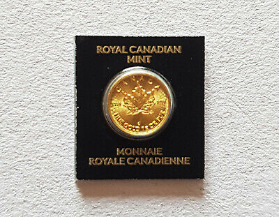 2016 1 gram 50 Cents Canada Maple Leaf .9999 Fine Gold Coin Elizabeth II RCM