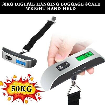 LCD Digital Scale 50kg Weight Tool Electronic Portable Luggage Hanging Travel
