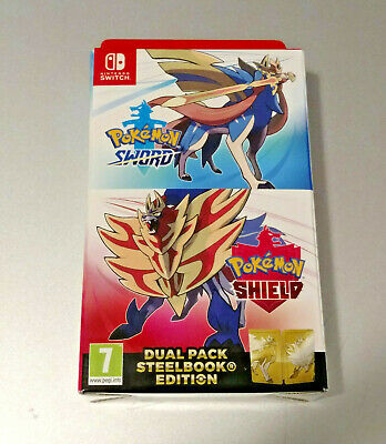 NINTENDO SWITCH POKEMON SWORD SHIELD DUAL PACK STEELBOOK EDITION Ships from Can