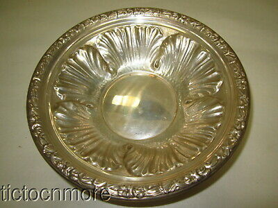 VINTAGE FRANK M WHITING STERLING SILVER TIGER LILY CANDY DISH BOWL 3.25oz