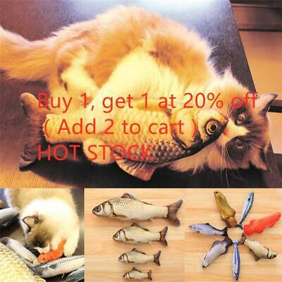 Artificial Fish Stuffed Pet Cat Toys Catnip Interactive Chewing Playing Cute Toy