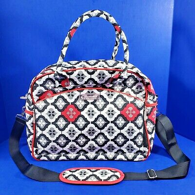 Bumble Collection Diaper Bag Dana Day Tripper Royal Ruby Montage Changing Pad