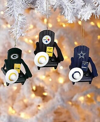 Oakland Raiders NFL Adirondack Chair Christmas Tree Ornament Holiday Football