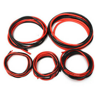UK 12-20 AWG Gauge Soft Silicone Flexible Wire Cable (1 Meter Red + 1 M Black)