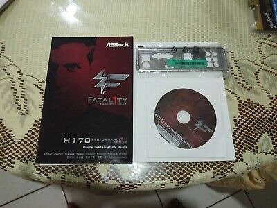 Asrock  Fatality  H170  Booklet  Backing  Plate  And  Motherboard  Dvd