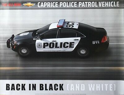 Holden Caprice WM Chevrolet Police V8 Sales Poster Also brochure listed
