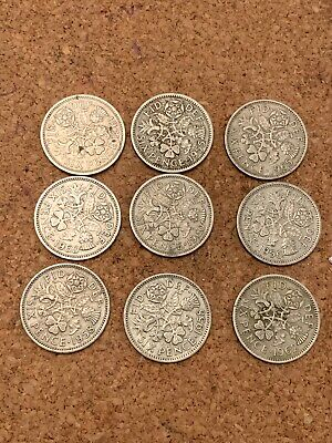 Job Lot of Old British Pre Decimal Sixpence Piece Coins! Various Dates!