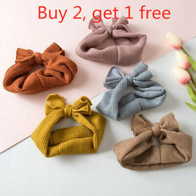 Baby Girl Newborn Infant Princess Bow Knot Turban Headband Hairband Head Vogue