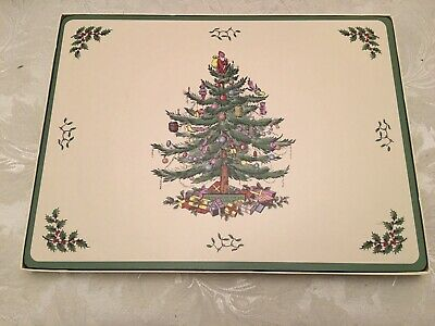 Extra Large Spode Christmas Tree Place Mats